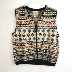 Woolrich women's zip front sweater vest size medi